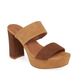 Jeffrey Campbell Adriana two tone platform sandal